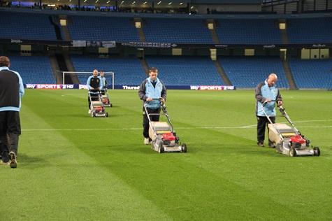 cutting the pitch