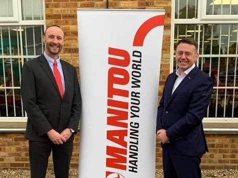 L-R: Manitou UK managing director, Mark Ormond with James Thurlow, group managing director for Thurlow Nunn Standen